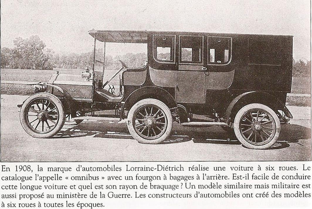 Lorraine-Dietrich a 6 roues 1908